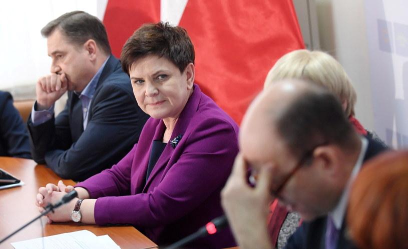 Premier Beata Szydło podczas posiedzenia Rady Dialogu Społecznego /Bartłomiej Zborowski /PAP