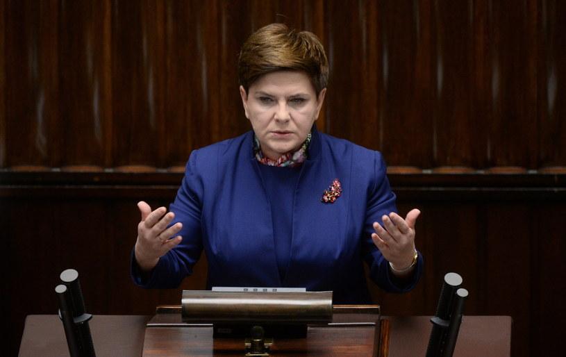 Premier Beata Szydło podczas posiedzenia Sejmu /Bartłomiej Zborowski /PAP