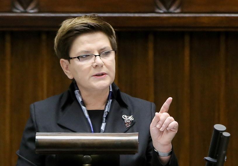 Premier Beata Szydło podczas wygłaszania expose /Paweł Supernak /PAP