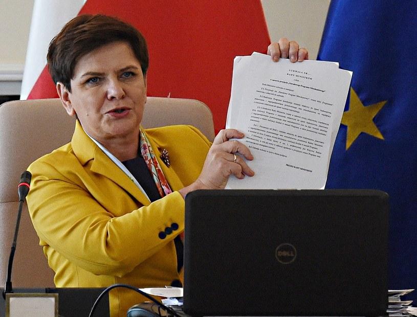 Premier Beata Szydło przed wtorkowym posiedzeniem rządu /Radek Pietruszka /PAP
