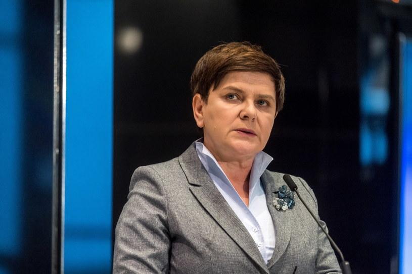 """Premier Beata Szydło przemawia podczas konferencji """"Pamięć i Nadzieja"""" /Tytus Żmijewski /PAP"""