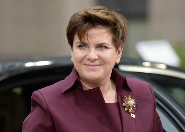 Premier Beata Szydło przybyła w poniedziałek na szczyt w Paryżu /AFP