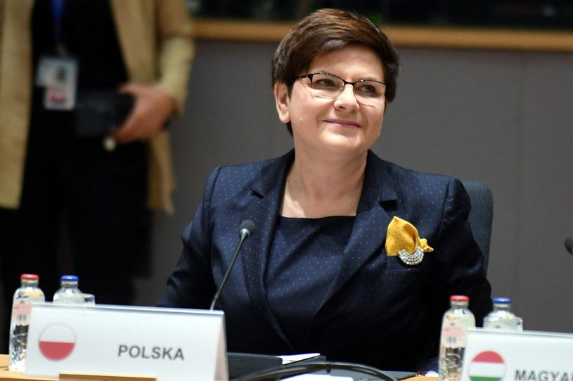 Premier Beata Szydło w Brukseli /Bartłomiej Zborowski /PAP