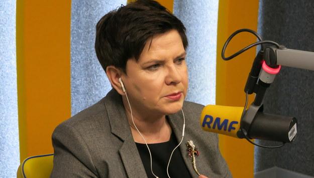 Premier Beata Szydło w krakowskim studiu RMF FM /Jacek Skóra /RMF FM