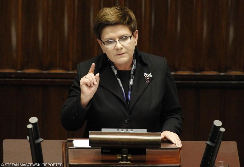 Premier Beata Szydło /Stefan Maszewski /Reporter