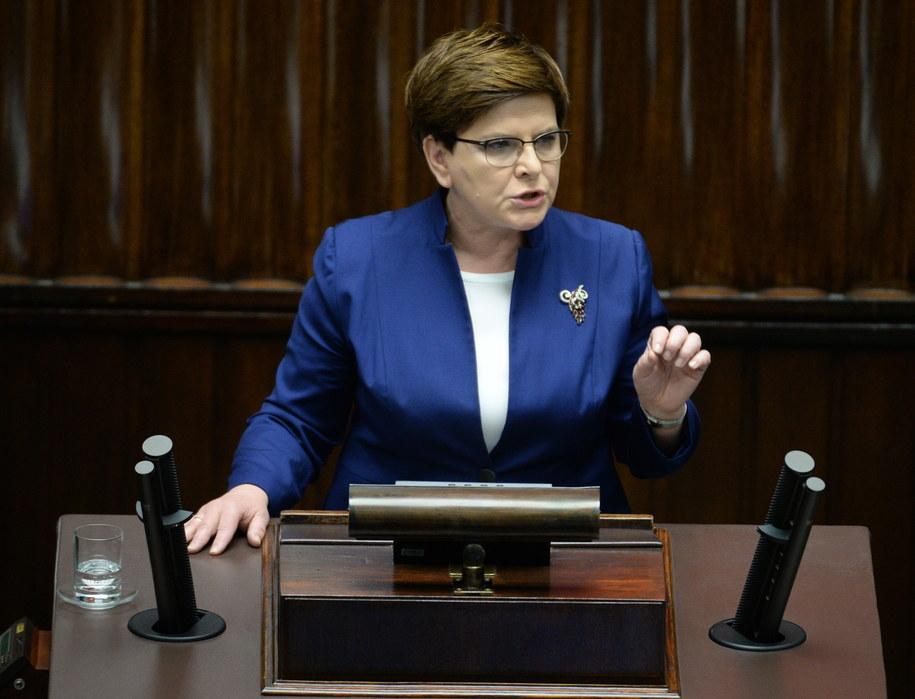 Premier Beata Szydło /Jacek Turczyk /PAP