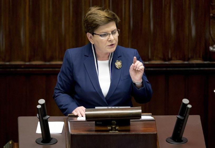 Premier Beata Szydło /Andrzej Iwańczuk/Reporter /Reporter
