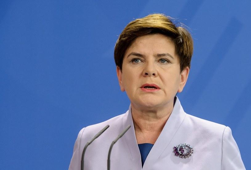 Premier Beata Szydło /Rafal Oleksiewicz /Reporter