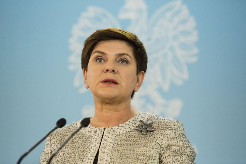 Premier Beata Szydło /Andrzej Hulimka  /Reporter