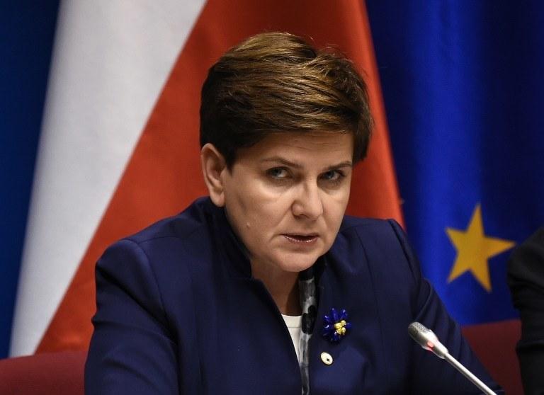 Premier Beata Szydło /AFP