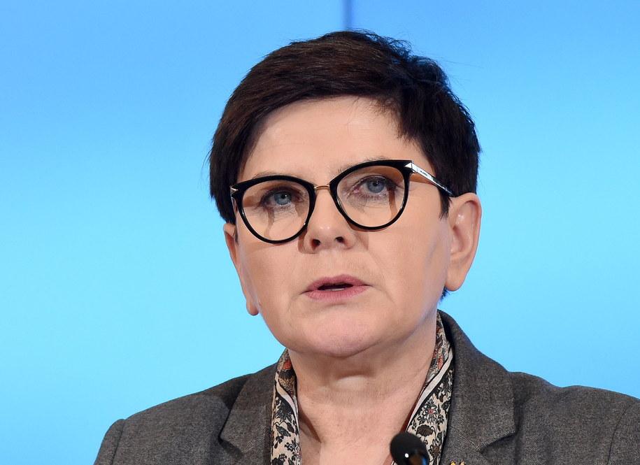 Premier Beata Szydło //Radek Pietruszka /PAP