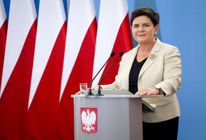 Premier Beata Szydło /Fot.Krystian Dobuszynski/ /Reporter