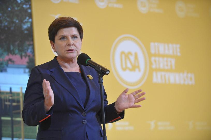 Premier Beata Szydło /Marcin Obara /PAP