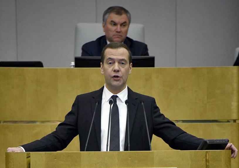 Premier Dmitrij Miedwiediew /ALEXANDER NEMENOV /AFP