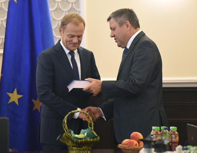 Premier Donald Tusk i wicepremier, minister gospodarki Janusz Piechociński /Radek Pietruszka /PAP