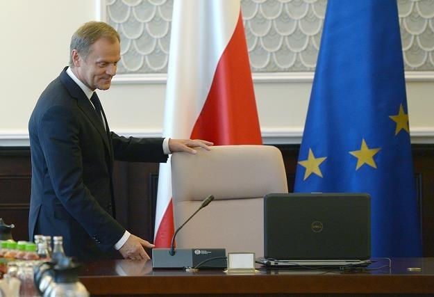 Premier Donald Tusk podczas dzisiejszego posiedzenia Rady Ministrów /PAP