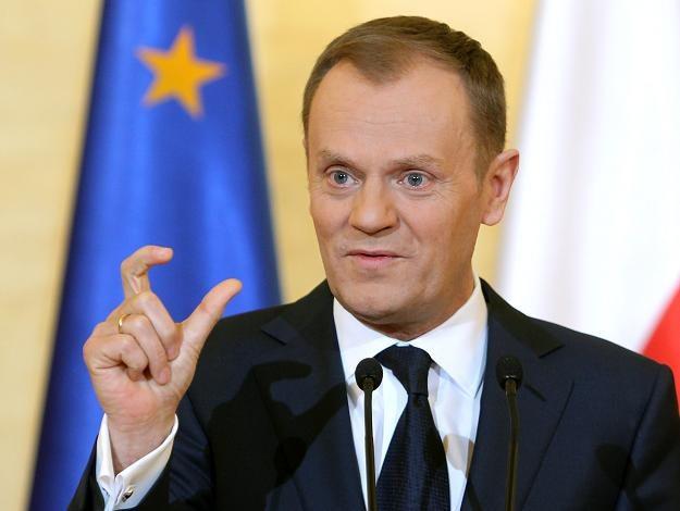Premier Donald Tusk podczas konferencji prasowej po posiedzeniu rządu ws. OFE, fot. R. Pietruszka /PAP
