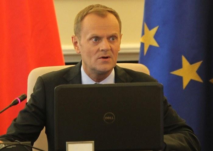 Premier Donald Tusk podczas posiedzenia rządu /Radek Pietruszka /PAP