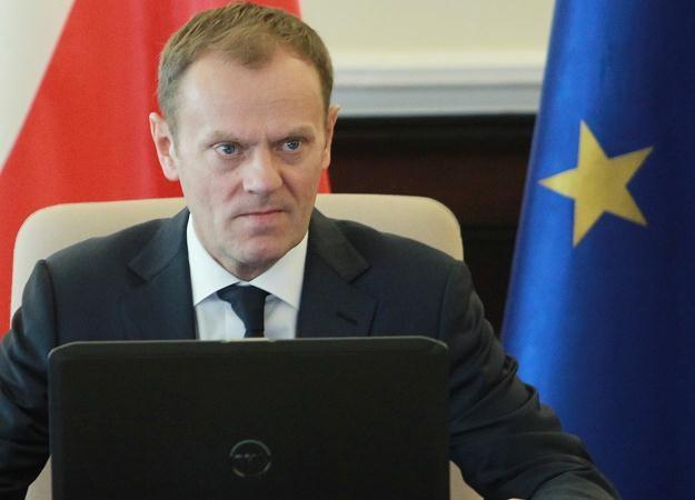Premier Donald Tusk przed posiedzeniem rządu, fot. R. Pietruszka /PAP