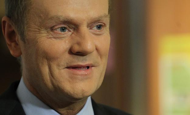 Premier Donald Tusk w czasie konferencji prasowej /fot. Radek Pietruszka /PAP