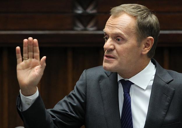 Premier Donald Tusk w Sejmie /fot. Radek Pietruszka /PAP