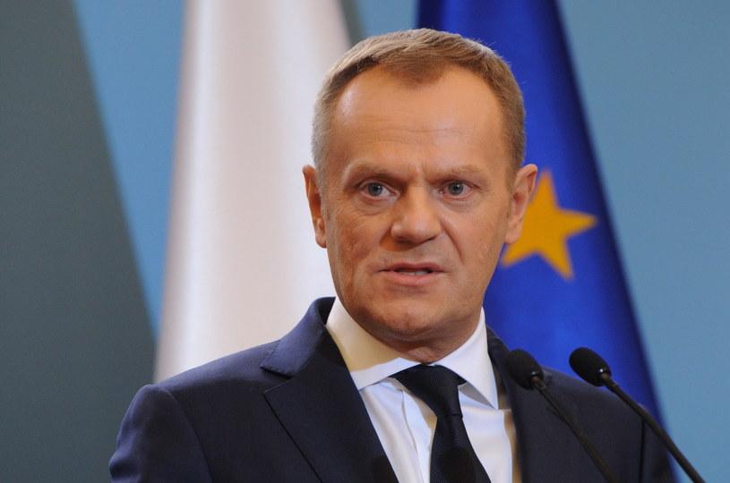 Premier Donald Tusk. /Grzegorz Jakubowski /PAP