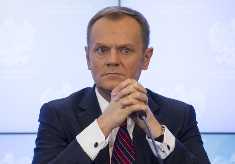 Premier Donald Tusk /Krystian Dobuszyński /Reporter