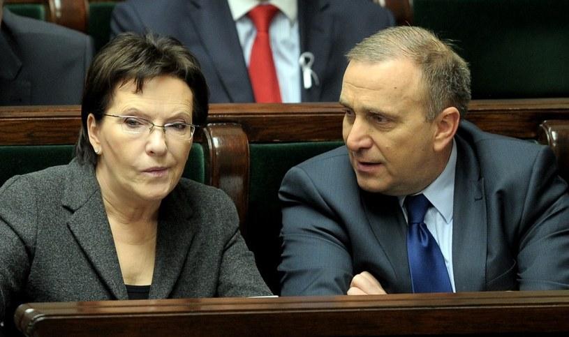 Premier Ewa Kopacz i minister Grzegorz Schetyna /Jan Bielecki /East News