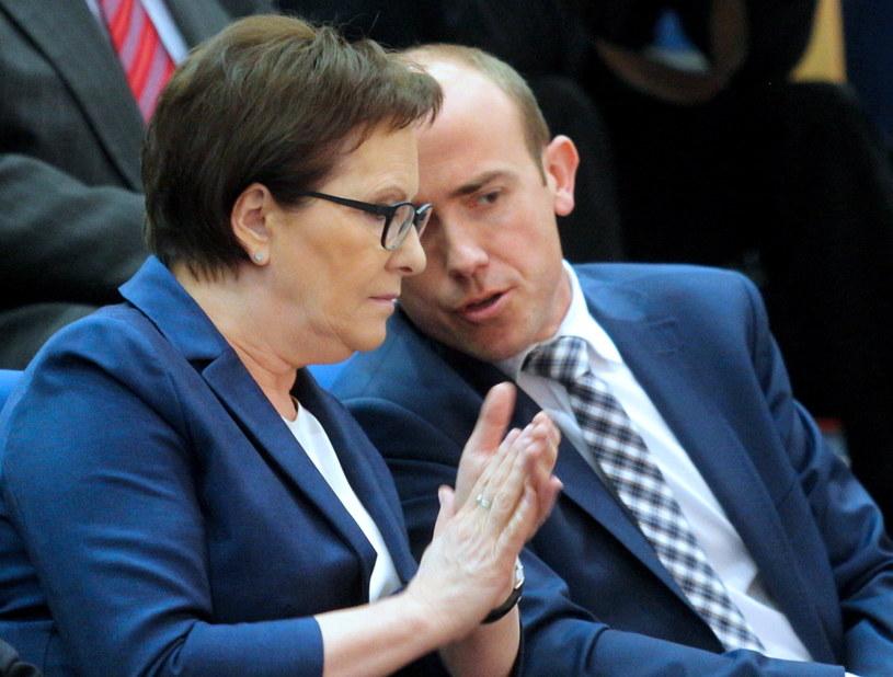 Premier Ewa Kopacz i minister sprawiedliwości Borys Budka /Andrzej Grygiel /PAP