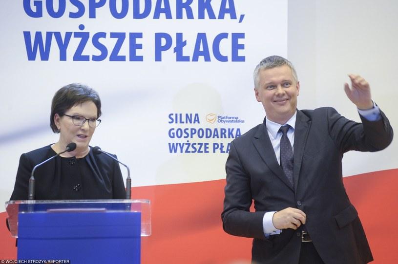 Premier Ewa Kopacz i szef MON Tomasz Siemoniak /Wojciech Stróżyk /East News