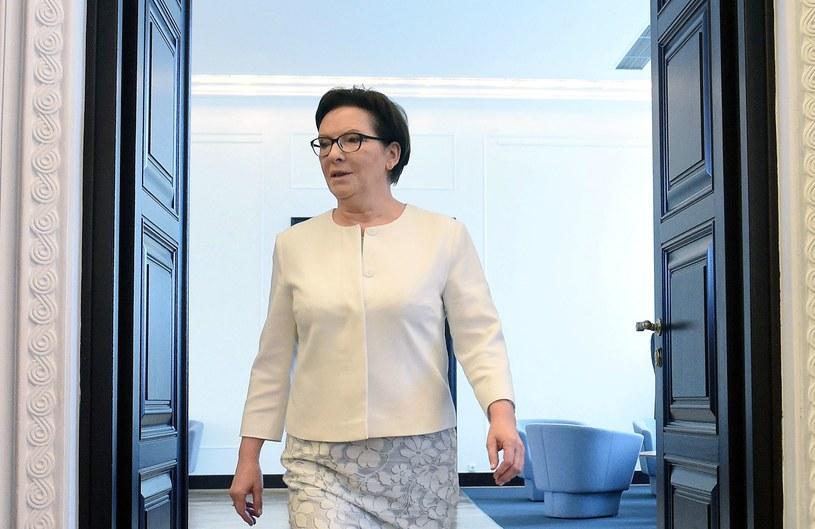 """Premier Ewa Kopacz oceniła, że Sikorski jeszcze kiedyś """"zatęskni za polityką"""" /Radek Pietruszka /PAP"""