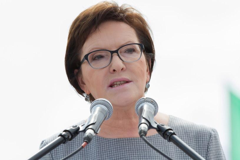 Premier Ewa Kopacz podczas ceremonii otwarcia Międzynarodowych Pokazów Lotniczych Air Show w Radomiu /Michał Walczak   (PAP) /PAP