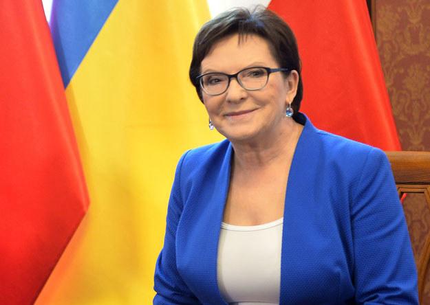 Premier Ewa Kopacz podczas pobytu na Ukrainie /AFP
