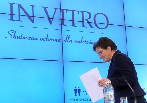 Premier Ewa Kopacz podczas prezentacji projektu /Jan Bielecki /East News