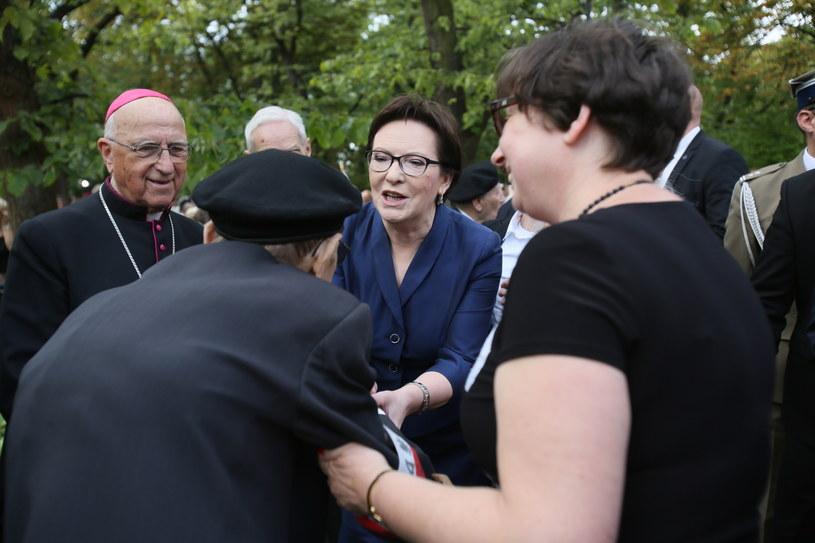 Premier Ewa Kopacz podczas uroczystości /Leszek Szymański /PAP