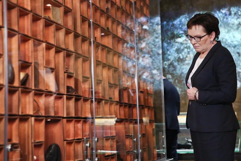 Premier Ewa Kopacz uczestniczyła również w otwarciu muzeum upamiętniającego zbrodnię katyńską /PAP