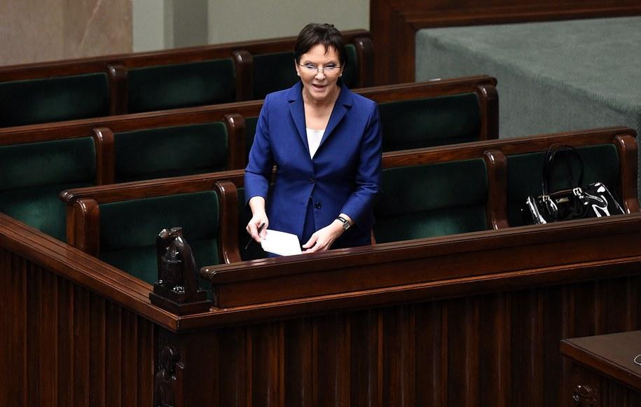 Premier Ewa Kopacz w Sejmie /Radek  Pietruszka /PAP