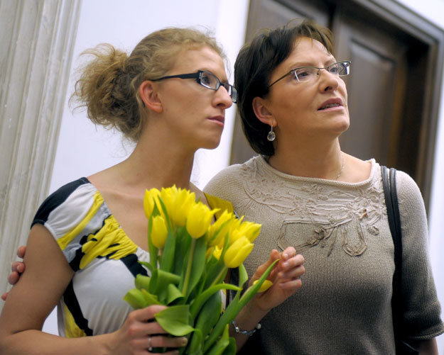 Premier Ewa Kopacz z córką Katarzyną /Adam Chełstowski /Agencja FORUM