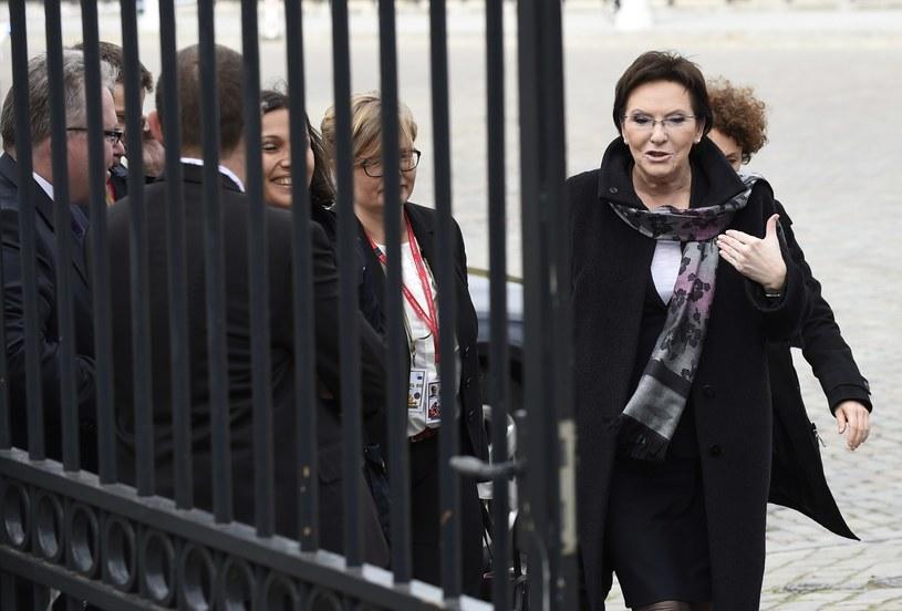 Premier Ewa Kopacz /AFP