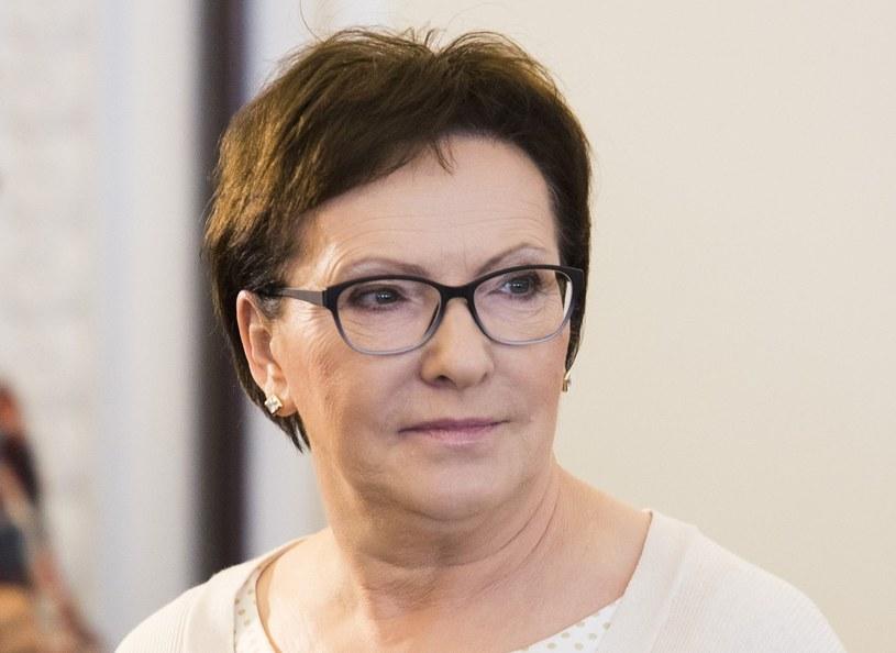 Premier Ewa Kopacz /Andrzej Hulimka  /Reporter