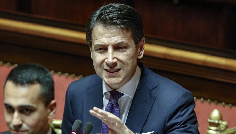 Premier Giuseppe Conte /GIUSEPPE LAMI /PAP/EPA