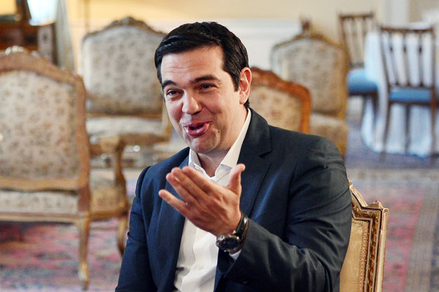 Premier Grecji Aleksis Cipras fot. Louisa Gouliamaki /AFP
