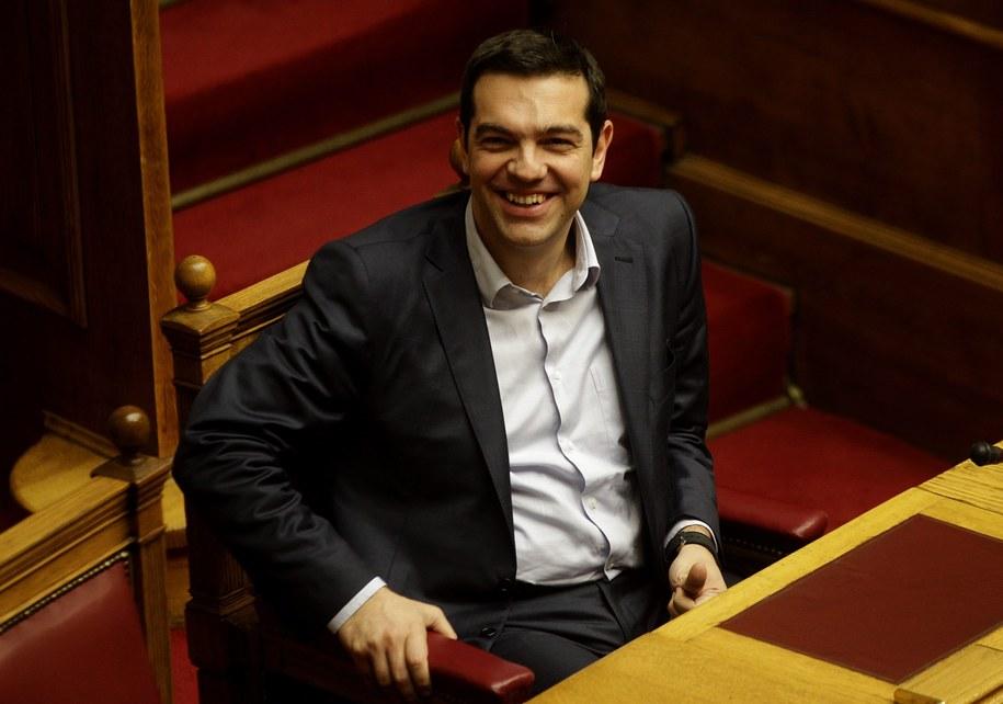 Premier Grecji Alexis Cipras /ORESTIS PANAGIOTOU /PAP/EPA