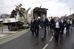 Premier Hiszpani na miejscu katastrofy kolejowej