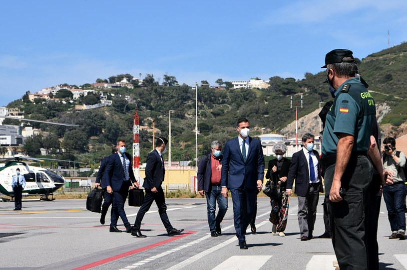 Premier Hiszpanii Pedro Sanchez przybył do Ceuty /AFP