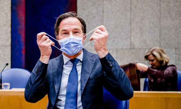 Premier Holandii Mark Rutte /BART MAAT /PAP/EPA