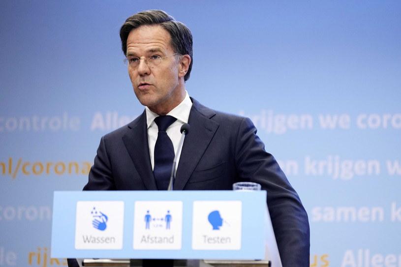 Premier Holandii Mark Rutte /PHIL NIJHUIS /PAP/EPA