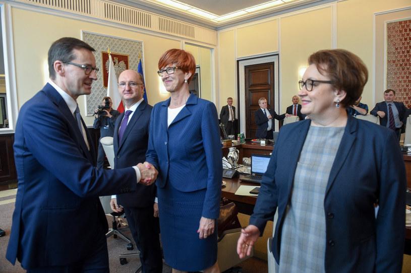 Premier i ministrowie przed posiedzeniem rządu /Zbyszek Kaczmarek /Reporter