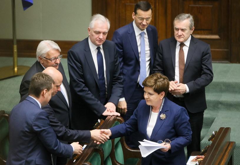 Premier i ministrowie przedstawili w Sejmie audyt z rządów PO-PSL /Paweł Supernak /PAP