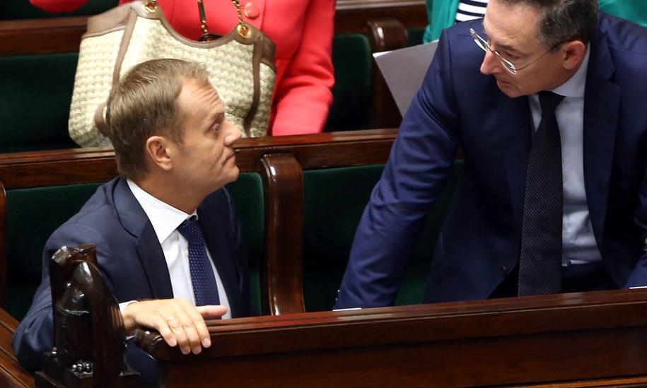 Premier i szef MSW w Sejmie /Tomasz Gzell /PAP